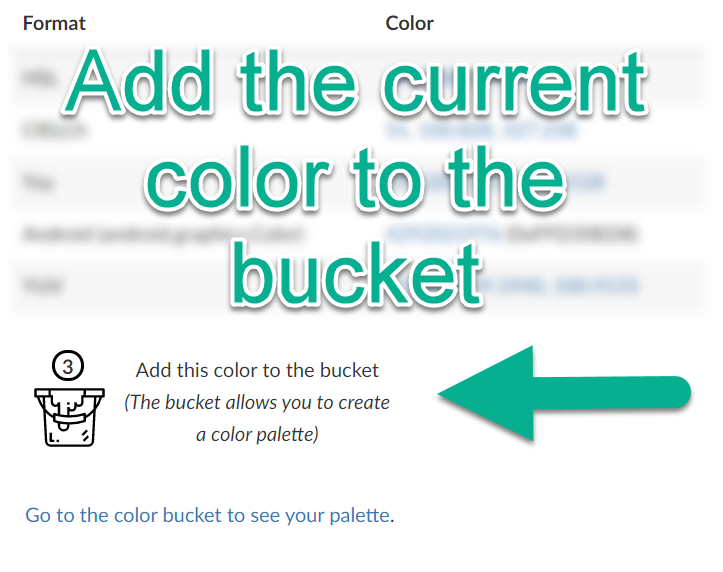 Color Bucket on Main Page